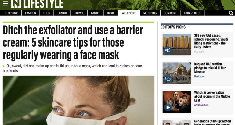 Ditch the exfoliator and use a barrier cream: 5 skincare tips for those regularly wearing a face mask