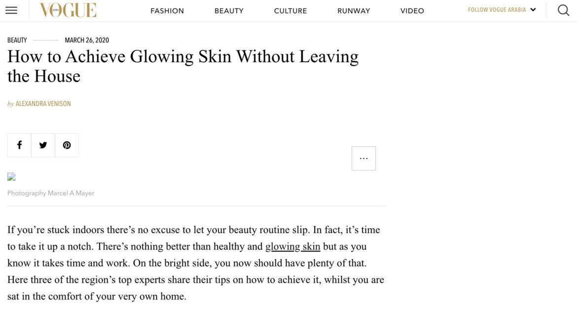 How to Achieve Glowing Skin Without Leaving the House