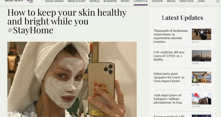 How to keep your skin healthy and bright while you #StayHome