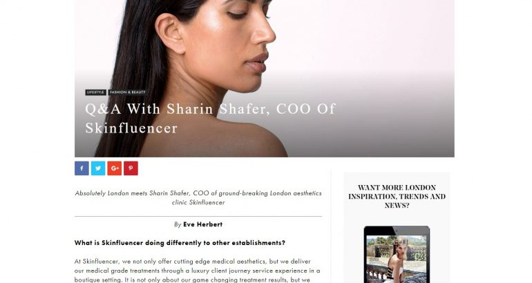 Q&A With Sharin Shafer, COO Of Skinfluencer