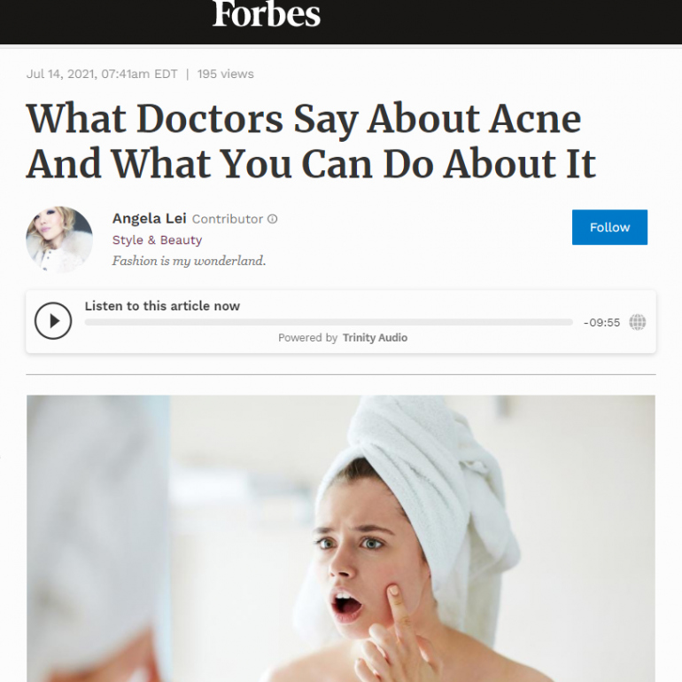 What Doctors Say About Acne And What You Can Do About It
